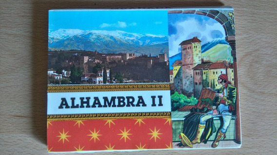 Libro 10 Vistas Postales La Alhambra 2, Granada - España