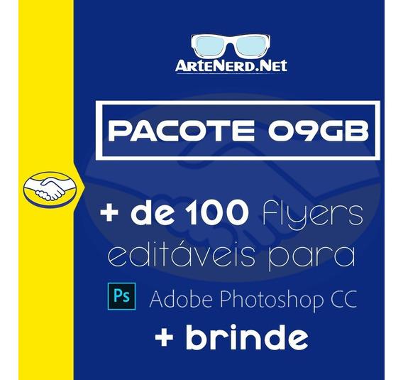 Pacote 09gb Flyer Psd Photoshop Editavel Festas Bandas