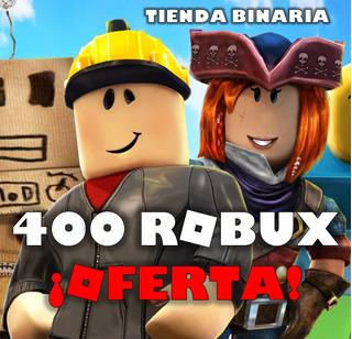 400 Robux En Roblox ¡oferta Limitada!