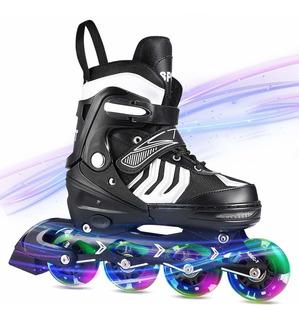 Ancheer Inline Skates Adjustable Women Men Kids Roller Sk