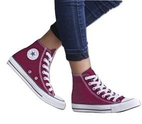 Dtt Tenis Sneaker Converse Bota Niños Textil Marrón 01338