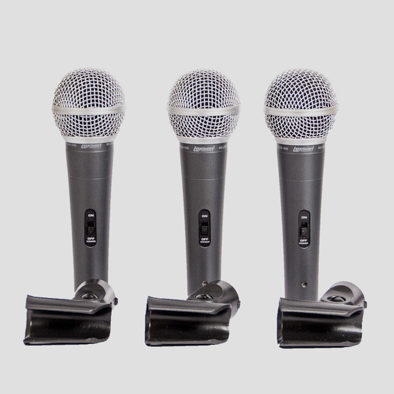 Kit 3 Microfones Lexsen Lcm 1800 Lcm1800 Melhor Q Xm1800