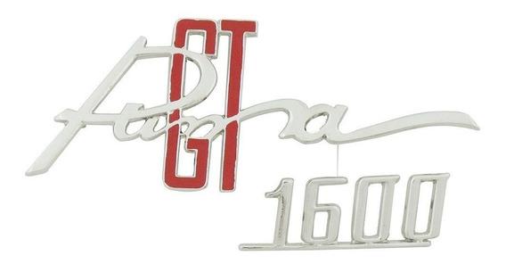 Emblema Metal Console Painel Tampa Porta Luvas Puma Gt 1600