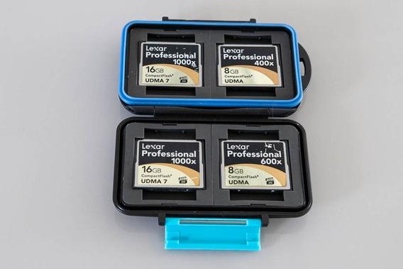 Kit C/ Cartões Compact Flash Lexar 16gb E 8gb Com Case