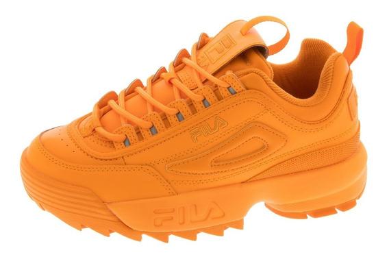 Tenis Casuales De Mujer Fila Disruptor Ii Premium Naranja