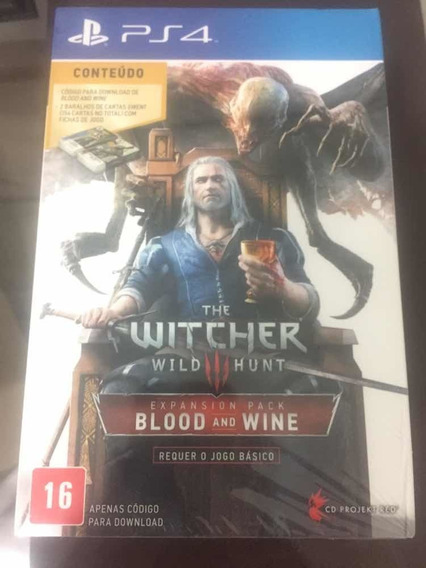 The Witcher 3 Wild Hunt Expansion Pack Blood And Wine Ps4