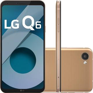 Smartphone Lg Q6 M700tv 32gb Dual 4g 13mp Dourado Vitrine 1