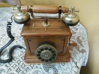 Vendo Teléfono De Colección Teclado Madera Tipo Antiguo