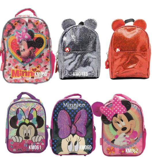 Mochila Minnie Mouse 12 Pulgadas Mundo Moda Km061