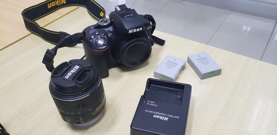 Câmera Nikon D5300 + 18-55mm + Bolsa + 32gb- 3000 Cliques