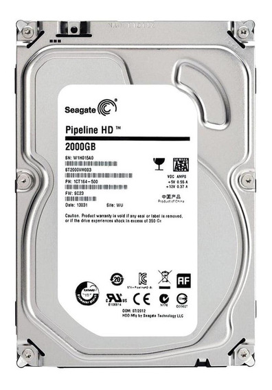 Disco rígido interno Seagate Video 3.5 HDD ST2000VM003 2TB prata