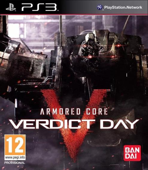 Jogo Armored Core V Veredict Day Ps3 Mídia Físia Lacrado