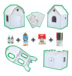 Kit De Arte Ondule En Casa 4 Juguete P/pintar Colores Fibras