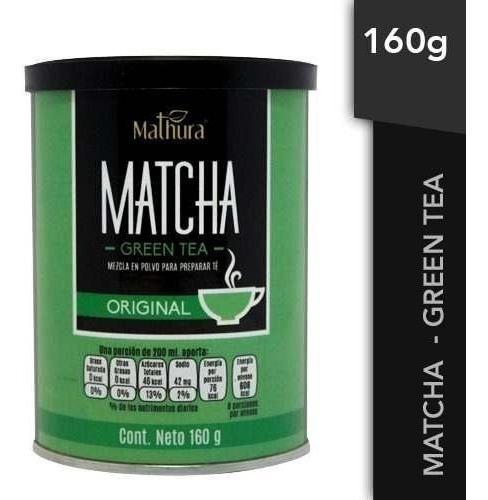 Te Matcha Green Tea 1 Lata De 160g Marca Mathura