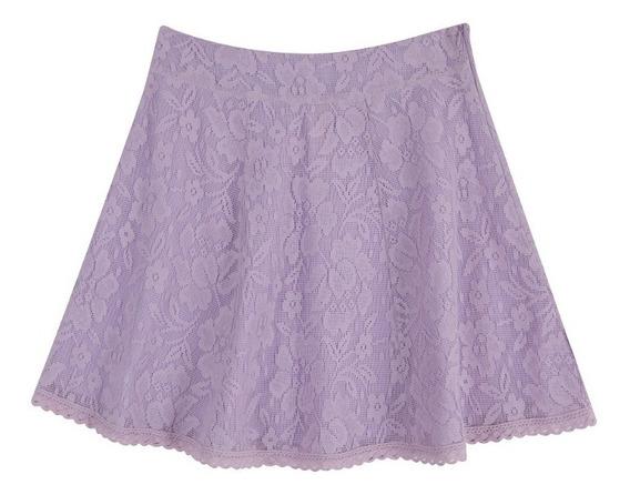Ferriano Minifalda Circular De Encaje