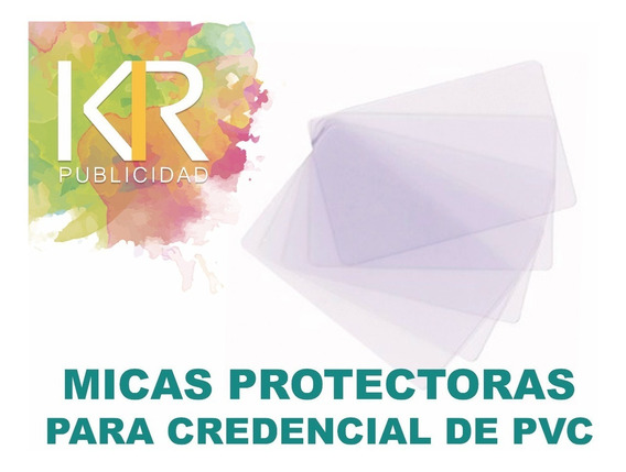 100 Micas Protectoras Para Credenciales De Pvc