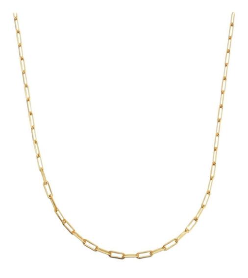 Corrente Cordão Masculina Cordão 80cm 2mm Folheada Á Ouro