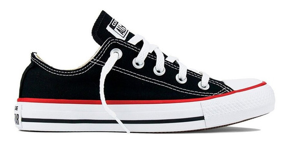 Tênis All Star Converse Ct Preto/vermelho - Frete Grátis