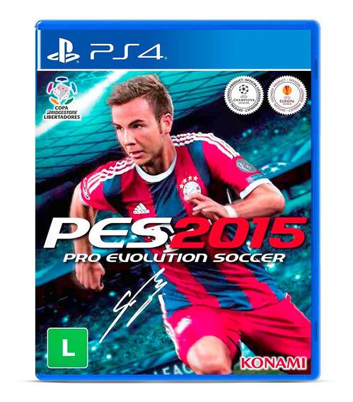 Pes Pro Evolution Soccer 2015 Jogo Midia Fisica Lacrado Ps4