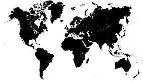 Cartão Postal Mapa Mundi