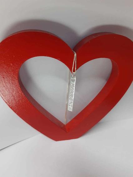 Colar Harmonia Prata Legítima Promoção Dia Dos Namorados