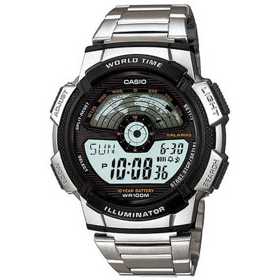 Relógio Casio Masculino World Time Ae-1100wd-1avdf.
