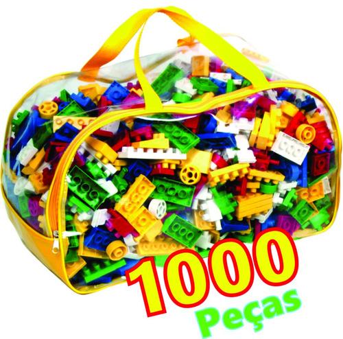 Brinquedo Blocos De Montar 1000 Peças Pedagógico Educativo