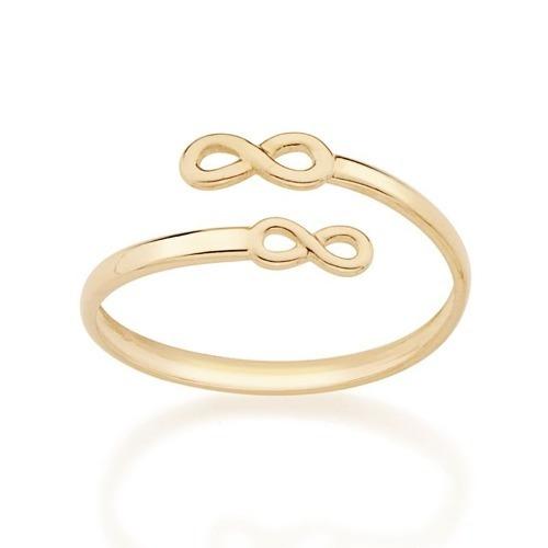 Anel Folheado A Ouro Rommanel Skinny Ring Ajustável 512731