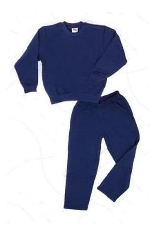 Conjunto Escolar Buso Y Pantalon Azul Niños