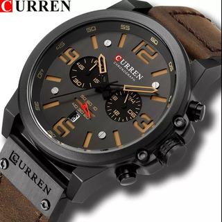 Curren 8314 Relógio Original Funcional Pulseira Couro Barato