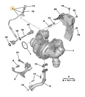 Manguera Engrasado Turbo C5 Hdi
