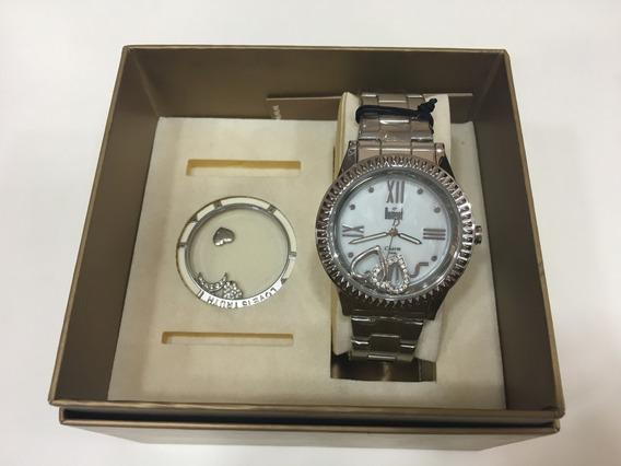 Relógio De Pulso Dumont Sg251778 Troca 2 Em 1 Prata Feminino