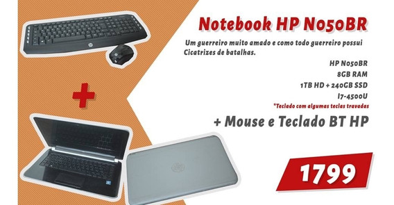 Notebook Hp I7 8gb 240gb(ssd)+1tb(hdd) Usado