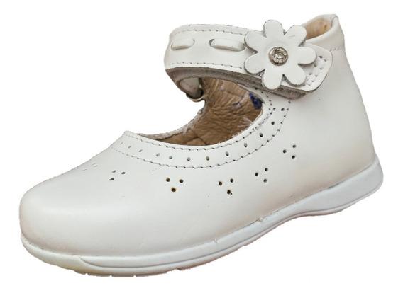 Zapato Bota Dogi E-8775 Niña Blanco Piel Moda Infantil