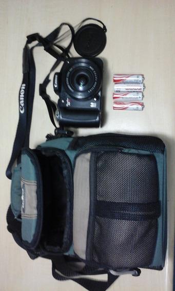 Câmera Canon Powershot S5is C Bolsa E Pilhas Recarregáveis