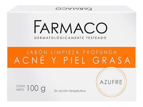 Farmaco Jabon En Barra Acne Y Piel Grasa 100 Gr