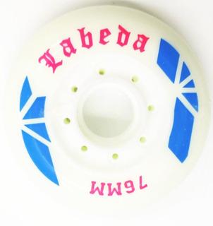 Rueda Para Patines Wheels La 76 Mm Blanca