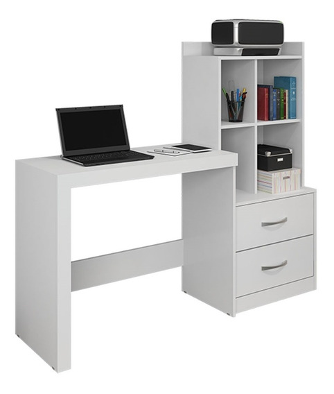 Escrivaninha Mesa Para Computador Alana Branco Jcm Movelaria