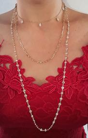 Corrente Tiffany Banhada Em Ouro Amarelo 18k Garantia Eterna