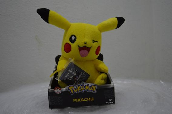 Pokemon Pelúcia Pikachu Happy/feliz 23cms Original Tomy