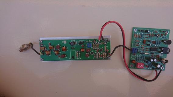 Placa Amplificadora De 6w + Pll Bh1417f+estereo+ Dissipador