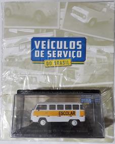 Revista Carros De Serviço Com Miniatura Vw Kombi Escolar T2
