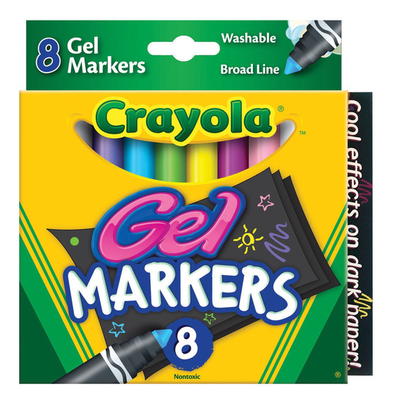 Marcadores Lavables De Gel Crayola X8