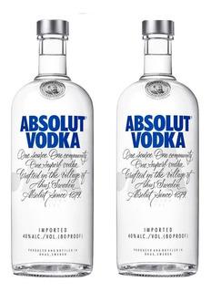 02 Litros Vodka Absolut - Original - Promoção