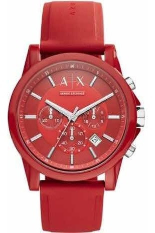 Relógio Armani Exchange Ax1328 Vermelho Top Original