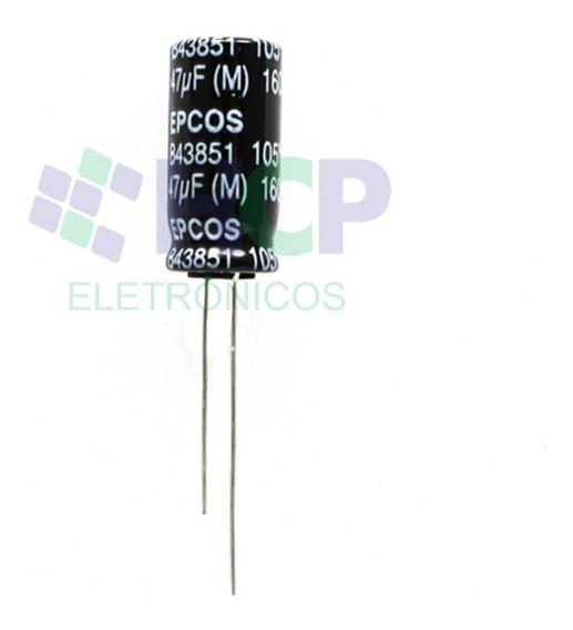 Capacitor Eletrolítico 47uf 160v 105° Epcos - Kit 25pçs