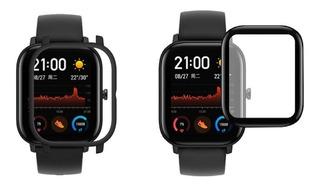 Case Bumper Amazfit Gts Smartwatch + Película Nanogel