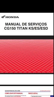 Manual De Serviço Completo Honda Cg Titan 150 Ks/es/esd