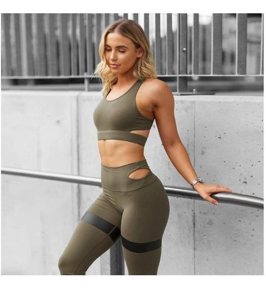 Calza + Top Deportiva Mujer Importada Ultima Moda Vm