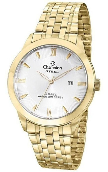 Relógio Champion Ca21599h Masculino Dourado Most. Prata/bco